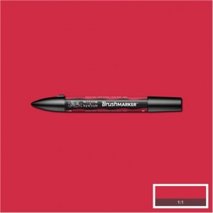 Winsor & Newton Brushmarker Berry Red