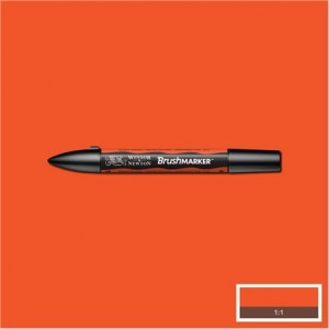 Winsor & Newton Brushmarker Bright Orange