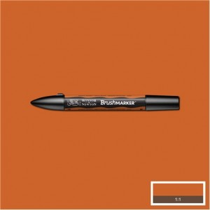 Winsor & Newton Brushmarker Saddle Brown