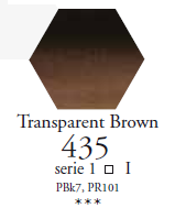 Sennelier Akwarela 1/2 Kostki  Transparent Brown