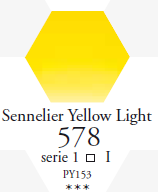 Sennelier Akwarela 1/2 Kostki  Sennelier Yellow Light