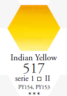 Sennelier Akwarela 1/2 Kostki Indian Yellow