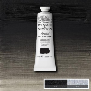 Farba Artists' Oil Colour Winsor & Newton Charcoal Grey